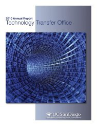 2010 Annual Report - Technology Transfer Office - UC San Diego