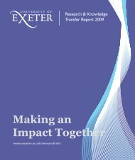 Research & Knowledge Transfer Annual Report 2009 - University of ...