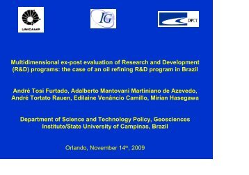 Multidimensional ex-post evaluation of Research and Development ...