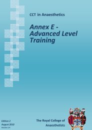 Advanced Level Training Edition 2 August 2010 - The Royal College ...