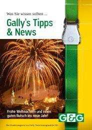 Tipps & News Ausgabe 4/2009 (pdf) - Gally Versicherungsmakler ...