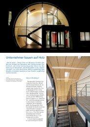 Unternehmer bauen auf Holz - Transform Architekten