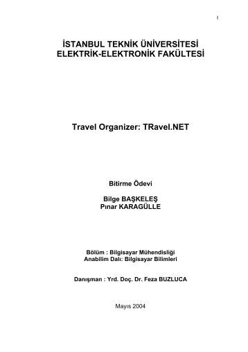 TRavel.NET - İstanbul Teknik Üniversitesi