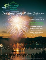 24th Annual Family Medicine Conference - British Columbia College ...