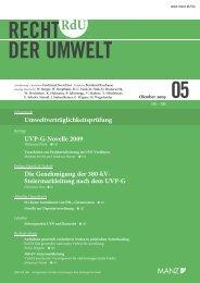 RECHT DER UMWELT - Fellner Wratzfeld & Partner Rechtsanwälte ...
