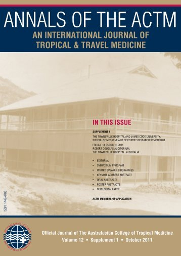 AN INTERNATIONAL JOURNAL OF TROPICAL & TRAVEL MEDICINE