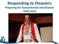 Responding to Disasters - Winnipeg Regional Health Authority