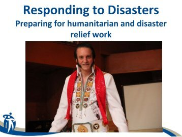 Responding to Disasters - Winnipeg Regional Health Authority