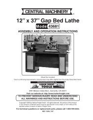 """12"""" x 37"""" Gap Bed Lathe - Harbor Freight Tools"""