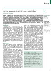 Medical issues associated with commercial flights