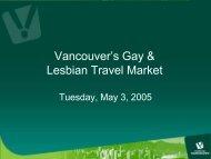 Vancouver's Gay & Lesbian Travel Market - Tourism Vancouver