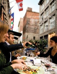 Consumer and Trade Research in Brazil - Canadian Tourism ...