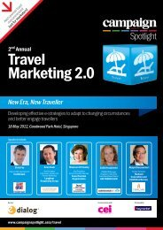 Travel Marketing 2.0 - Campaign Spotlight