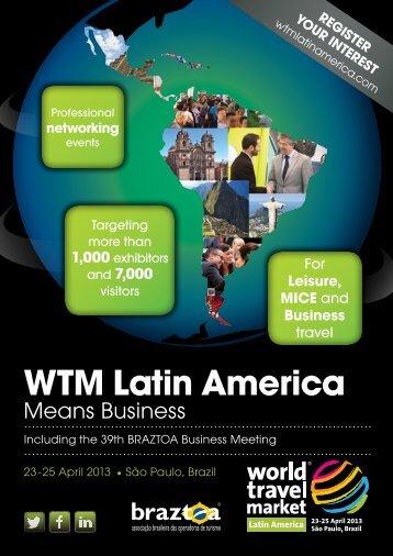 Who WiLL Attend WtM LAtin AMeriCA? - World Travel Market Latin ...