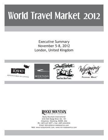 World Travel Market Leads - South Dakota Department of Tourism