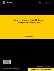 TAMS 2006 Canadian Ontario's Immigrant Travel Market and Its ...