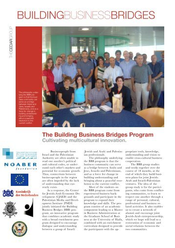 The Building Business Bridges Program Cultivating multicultural ...