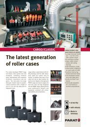 The latest generation of roller cases CARGO/CLASSIC - Tme