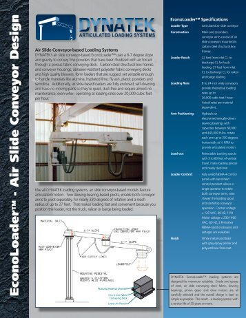 Air Slide Conveyor Design - MC Schroeder Equipment Company