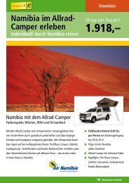 Namibia im Allrad- Camper erleben - Karawane Reisen