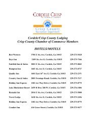 Cordele/Crisp County Lodging Crisp County Chamber of Commerce ...