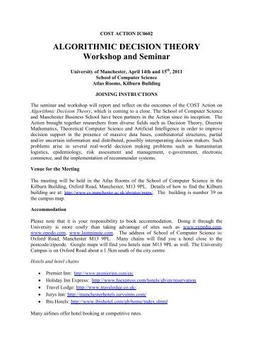 ALGORITHMIC DECISION THEORY Workshop and ... - Lamsade