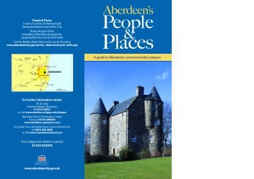 Aberdeen's People and Places leaflet