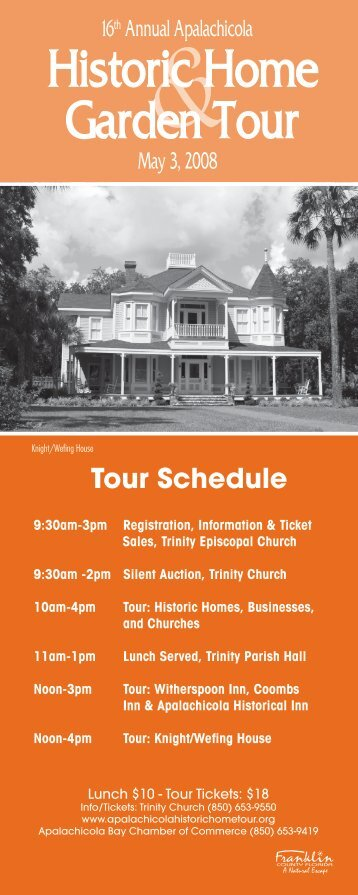 Tour Schedule - Trinity Episcopal Church