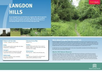 Langdon Hills Country Park - Essex County Council