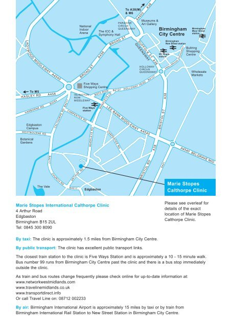Download map with directions - Marie Stopes International