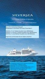 Jetzt buchbar! - Silversea Cruises von ihrem Kreuzfahrt Partner