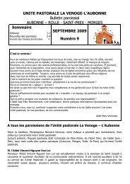 bulletin sept.2009 - Eglise catholique en Pays de Vaud