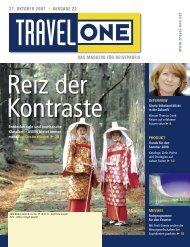 DAS MAGAZIN FÜR REISEPROFIS 31. OKTOBER ... - Travel-One