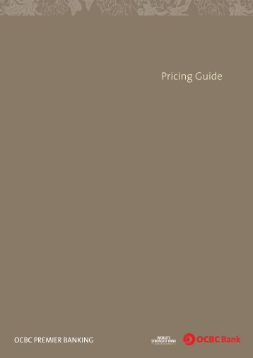 Pricing Guide - OCBC Bank