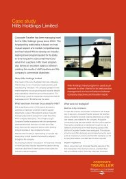 Case study: Hills Holdings Limited - Corporate Traveller
