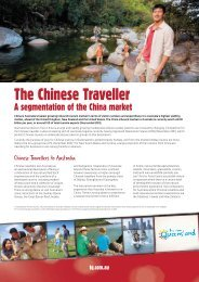 The Chinese Traveller factsheet - Tourism Queensland