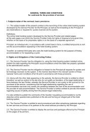 GENERAL TERMS AND CONDITIONS for contracts for the provision ...