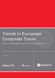 Trends in European Corporate Travel - Sabre Travel Network