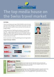 The top media house on the Swiss travel market - Primus Verlag