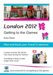 Getting to the Games - Easy Read - London 2012 Olympics