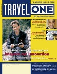 Ansporn zur Innovation - Travel-One