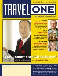 Was kommt nach All-inclusive? - Travel-One