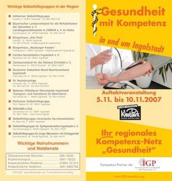 5.11. bis 10.11.2007 Gesundheit mit Kompetenz in und ... - WestPark