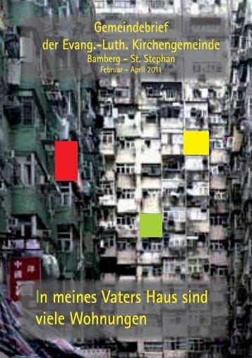 In meines Vaters Haus sind viele Wohnungen - Dekanat Bamberg