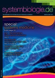 Issue 04 - Systems Biology in Germany