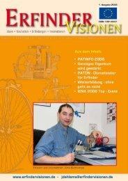 PATINFO 2006 - Erfinder Visionen