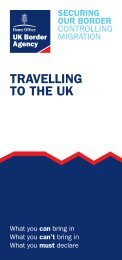 Notice 1 - Travelling to the UK - HM Revenue & Customs