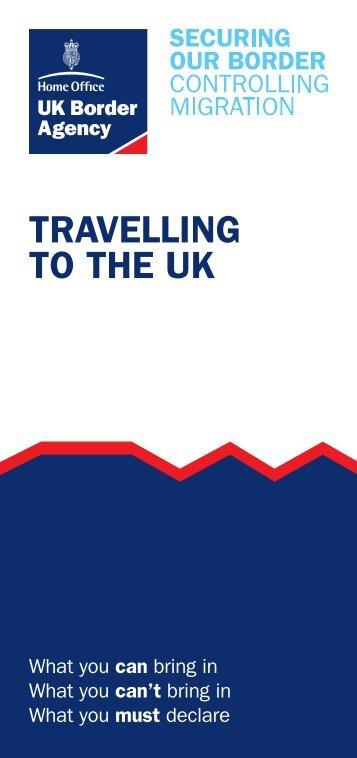 Notice 1 - Travelling to the UK - HM Revenue & Customs