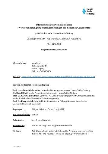 Programm - Prof. Dr. Klaudia Schultheis