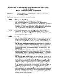 Protokoll der ordentlichen Mitgliederversammlung des Stadtver ...